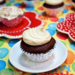 Black and White Irish Cream Cupcakes and Bailey's Cream Frosting