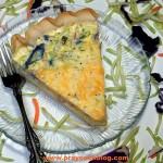 Broccoli Straws and Cheese Quiche