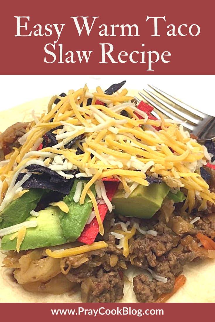 easy warm taco slaw recipe